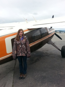 Gritty Gal with the Helio Courier Bush Plane Heading Out to the Cabin
