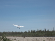 bush plane drop-off