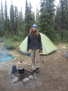 Gritty Gal at the campsite