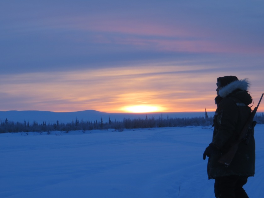 Downriver hunting for caribou.